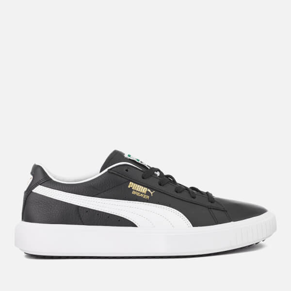 5e00cb8986d Puma Men s Breaker Leather Trainers - Puma Black Puma White Mens ...
