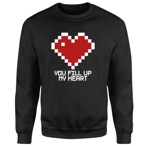You Fill Up My Heart Sweatshirt - Black