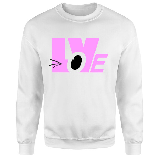 Love Wink Sweatshirt - White