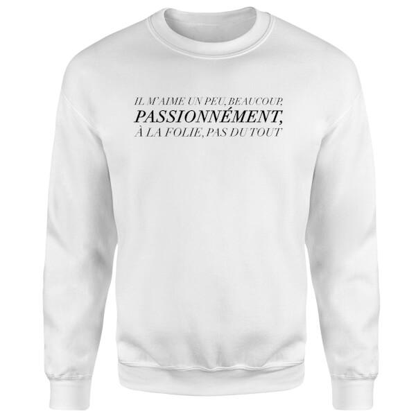 Passionnément Sweatshirt - White