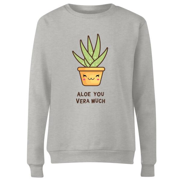 Aloe You Vera Much Women's Sweatshirt - Grey