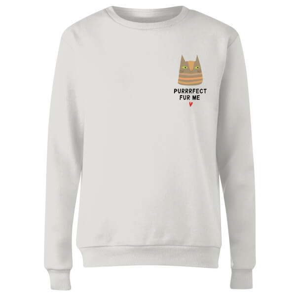 Purrrfect Fur Me Women's Sweatshirt - White