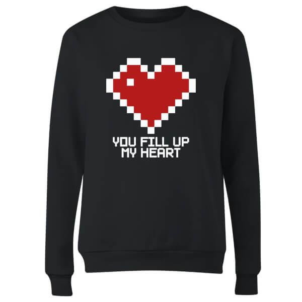 You Fill Up My Heart Women's Sweatshirt - Black