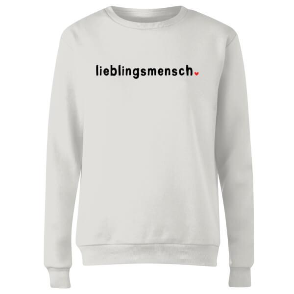Lieblingsmensch Women's Sweatshirt - White