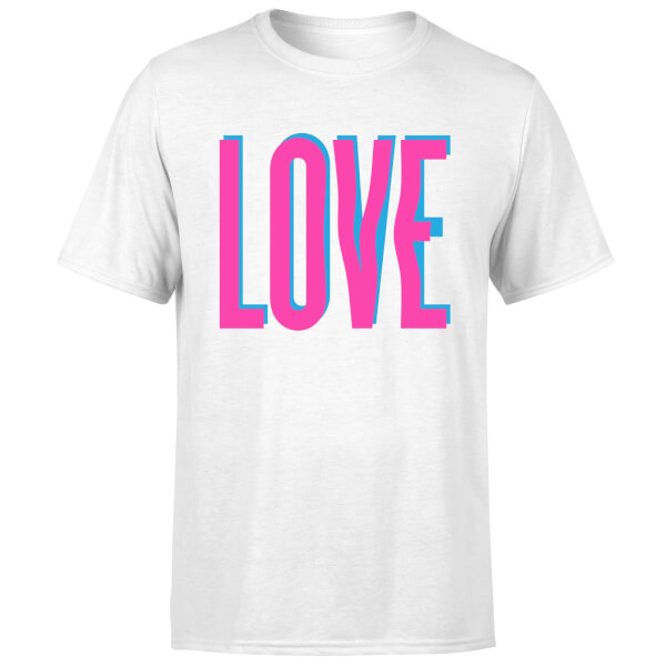 Love Glitch T-Shirt - White