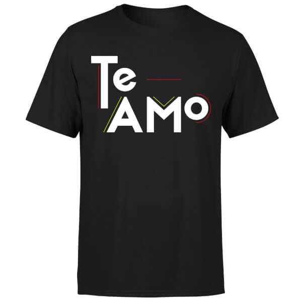 Te Amo Block T-Shirt - Black