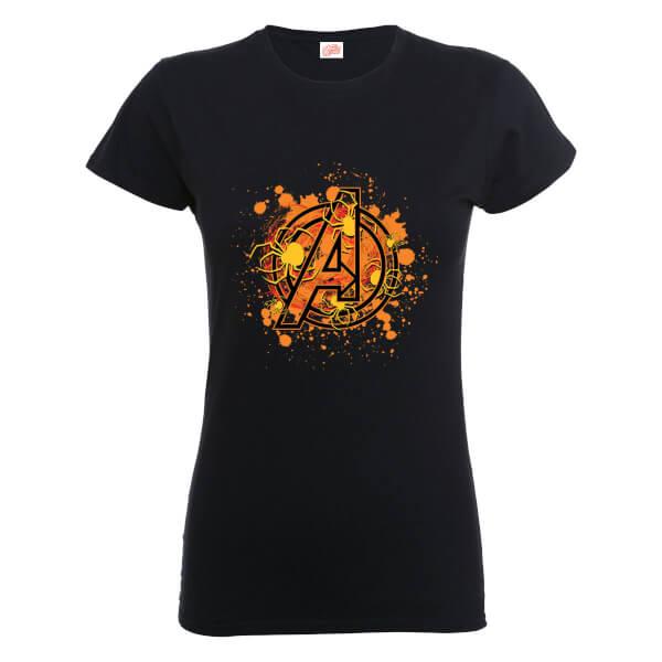 Marvel Avengers Assemble Halloween Spider Logo Women's T-Shirt - Black