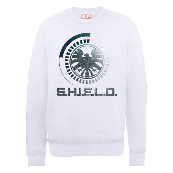 Marvel Avengers Assemble Shield Badge Sweatshirt - White