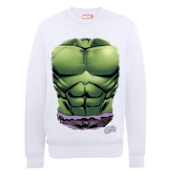 Marvel Avengers Assemble Hulk Chest Sweatshirt - White