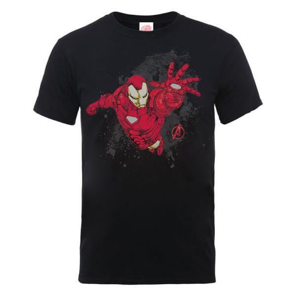 Marvel Avengers Assemble Iron Man T-Shirt - Black