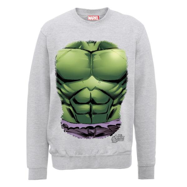 Marvel Avengers Assemble Hulk Chest Sweatshirt - Grey