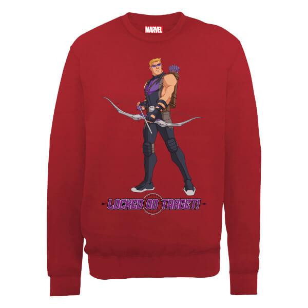 Marvel Avengers Assemble Hawkeye Locked On Sweatshirt - Red