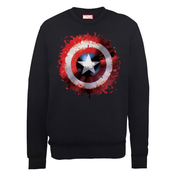 Marvel Avengers Assemble Captain America Art Shield Sweatshirt - Black