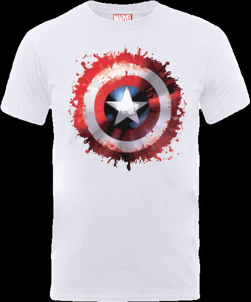 Marvel Avengers Assemble Captain America Super Soldier T-Shirt - White