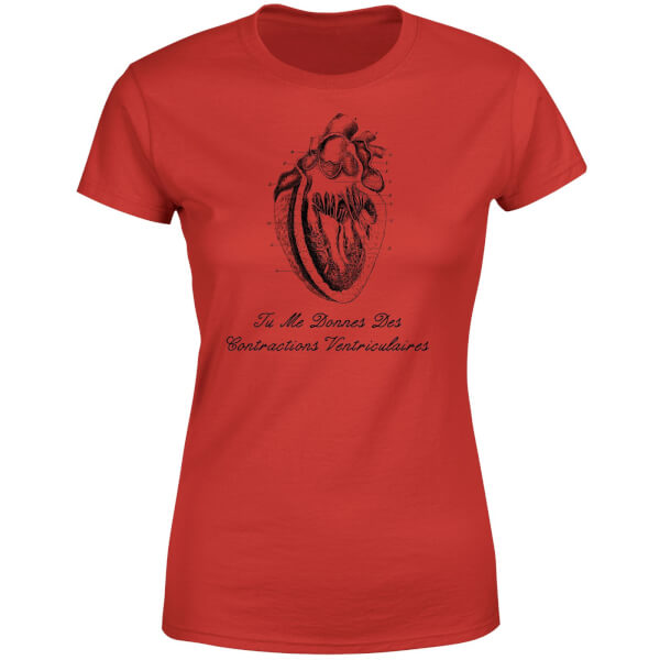 Premature Ventricular Contractions (FR) Women's T-Shirt - Red