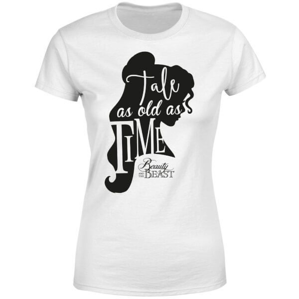 Disney Beauty And The Beast Princess Belle Tale As Old As Time Women's T-Shirt - White