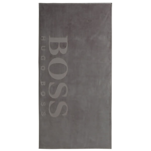 Hugo BOSS Carved Beach Towel - Grey