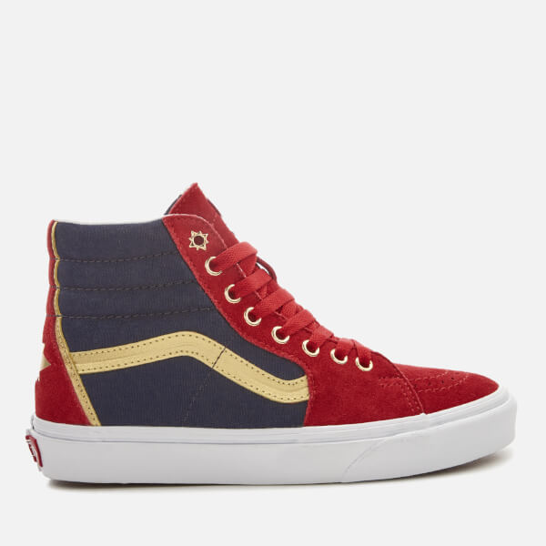 Vans Women's Marvel Captain Marvel Sk8 Hi-Top Trainers - Captain Marvel/True White