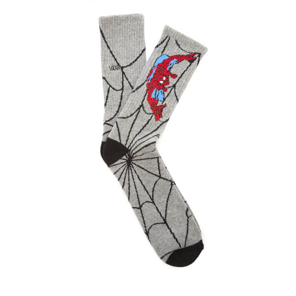 Vans Men's Marvel Spider-Man Socks - Heather Grey