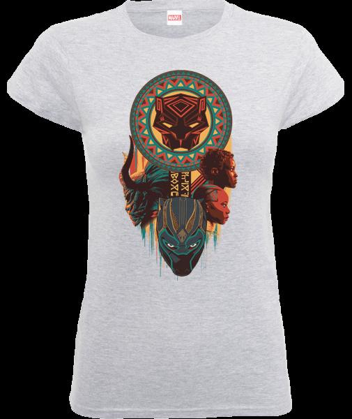 Black Panther Totem Women's T-Shirt - Grey