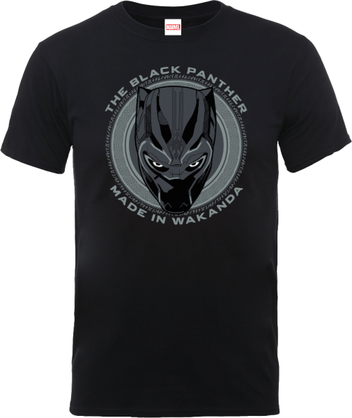 Black Panther Made in Wakanda T-Shirt - Black