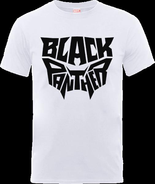 Black Panther Emblem T-Shirt - White