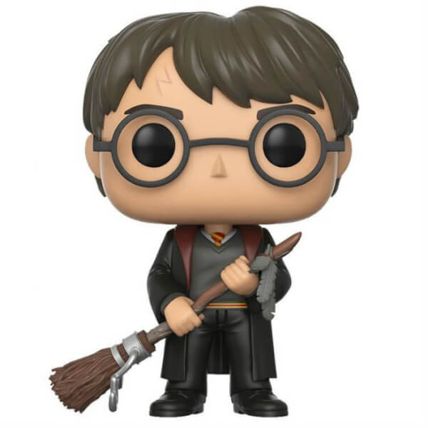 Harry Potter Harry With Firebolt And Feather Exc Pop
