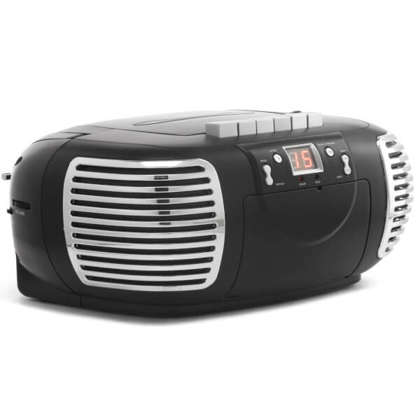 GPO Retro PCD299 3-in-1 Portable CD, Radio and Cassette Player - Black