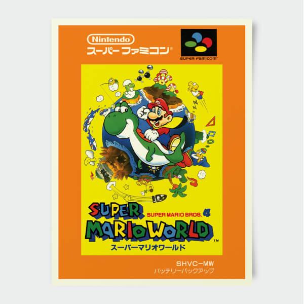 Nintendo Super Famicom Super Mario World Print