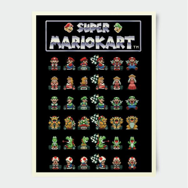 Nintendo Mario Kart Retro Racer Print