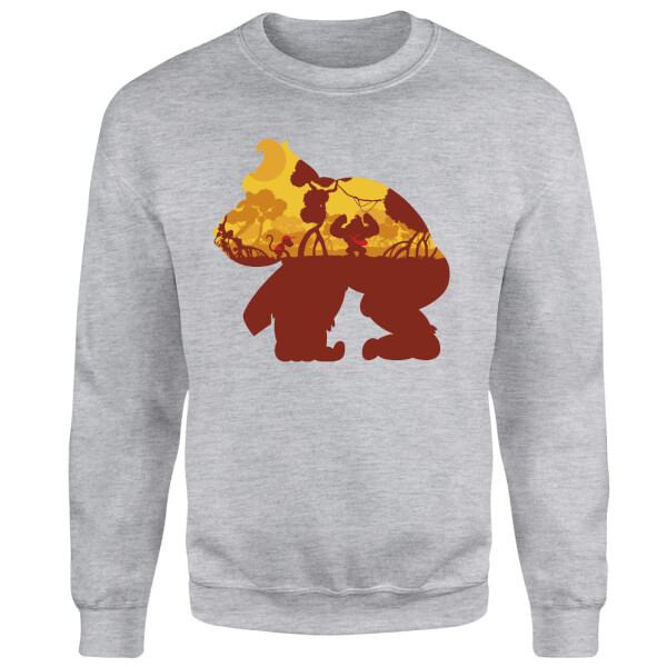 Nintendo Donkey Kong Silhouette Mangrove Sweatshirt - Grey