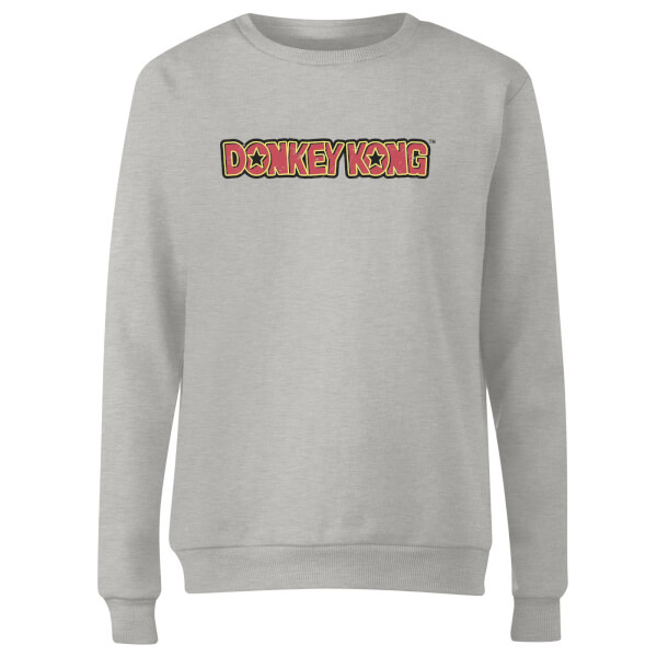 Nintendo Donkey Kong Distressed Women's Sweatshirt - Grey