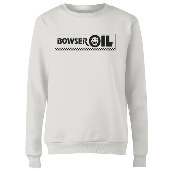 Super Mario Bowser Oil Women's Sweatshirt - White