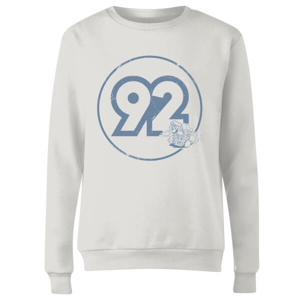 Vintage Mario Racer 92 Women's Sweatshirt - White