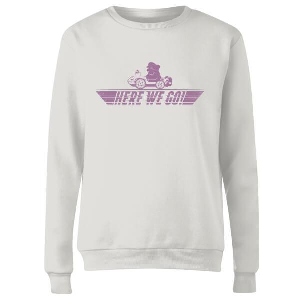 Mario Kart Here We Go Wario Women's Sweatshirt - White