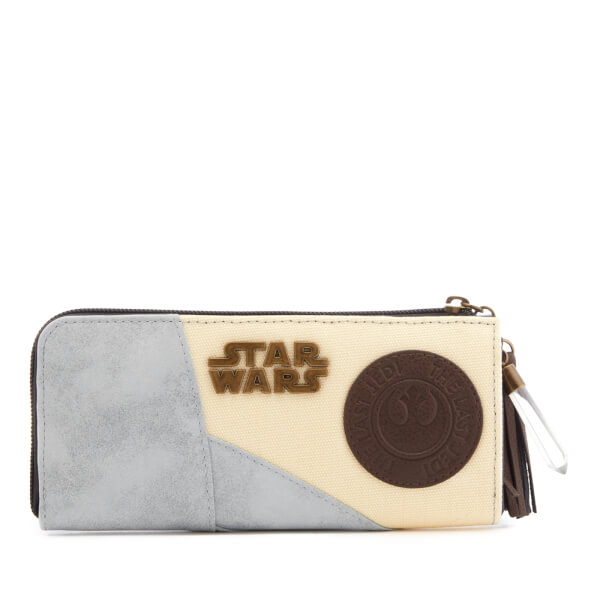 Star Wars Rey L-Zip Wallet with Badge and Charm - Grey