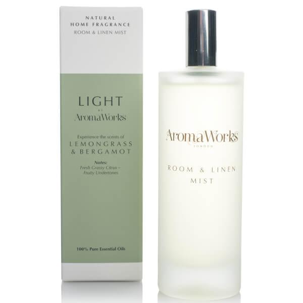 AromaWorks Light Range Room Mist - Lemongrass and Bergamot