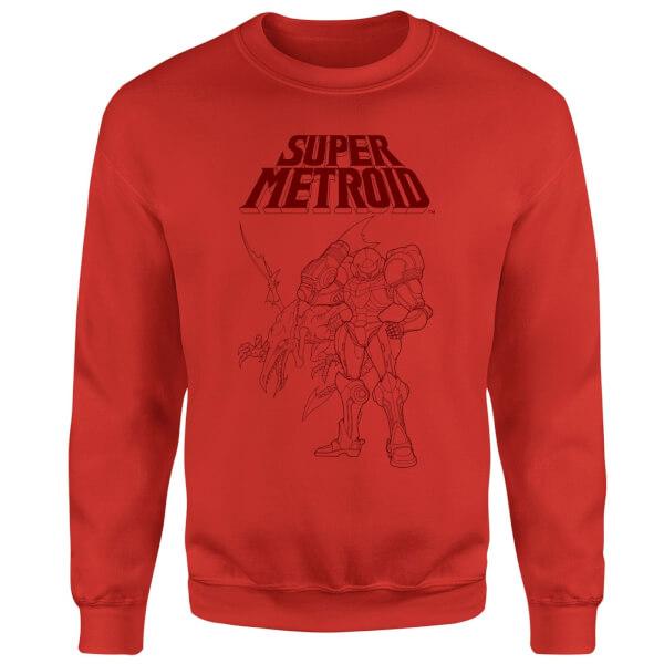 Nintendo Super Metroid Ridley And Samus Sweatshirt - Red