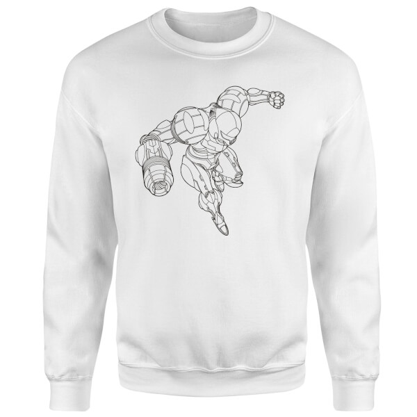 Nintendo Super Metroid Samus Sweatshirt - White