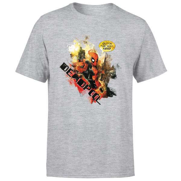 Marvel Deadpool Outta The Way Nerd T-Shirt - Grey