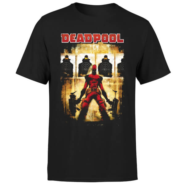 Marvel Deadpool Target Practice T-Shirt - Black