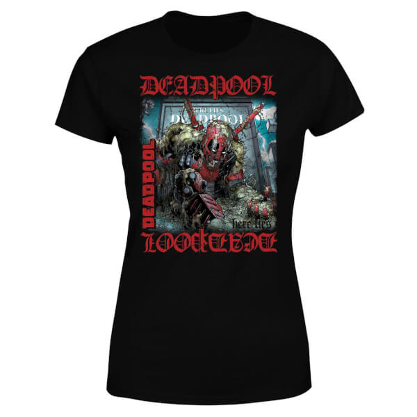 Marvel Deadpool Here Lies Deadpool Women's T-Shirt - Black