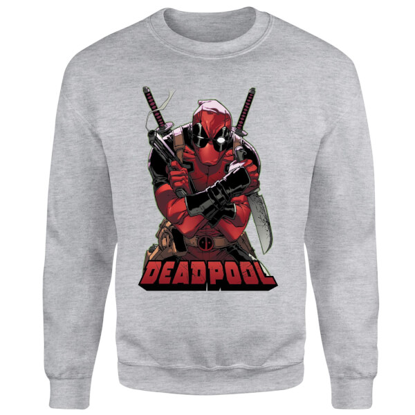 Marvel Deadpool Ready For Action Sweatshirt - Grey