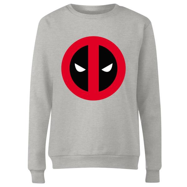 Marvel Deadpool Clean Logo Women's Sweatshirt - Grey