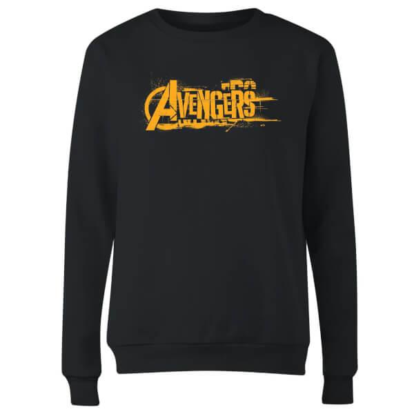 Marvel Avengers Infinity War Orange Logo Women's Sweatshirt - Black