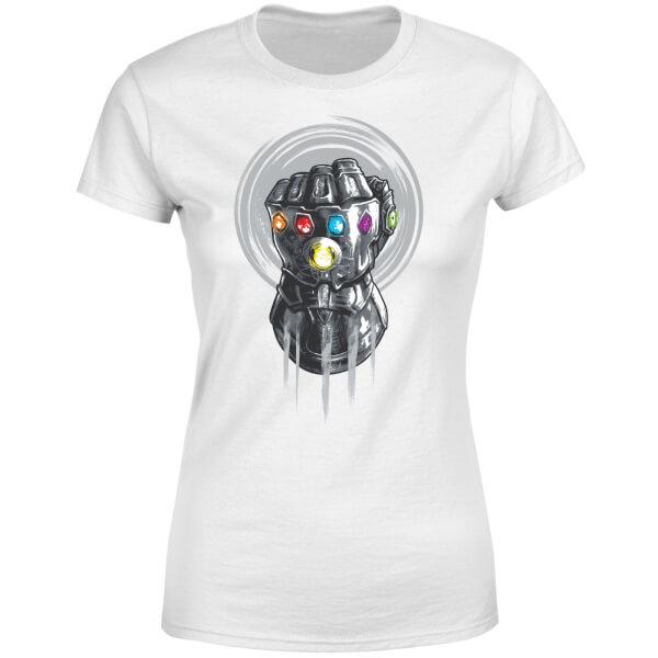Marvel Avengers Infinity War Thanos Infinite Power Fist Women's T-Shirt - White
