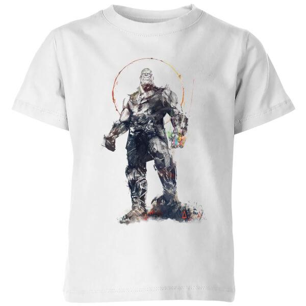 Marvel Avengers Infinity War Thanos Sketch Kids' T-Shirt - White