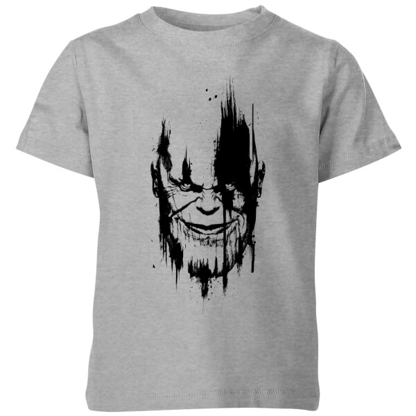 Marvel avengers infinity war thanos face kids 39 t shirt for Cheap t shirt printing next day delivery
