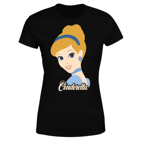 Disney Princess Colour Silhouette Cinderella Women's T-Shirt - Black