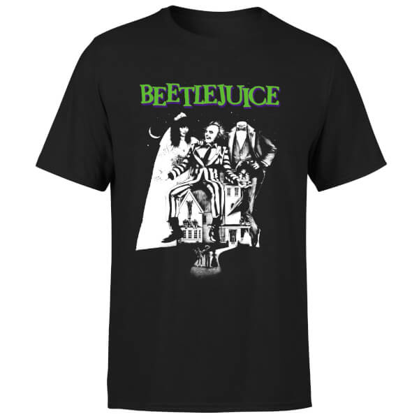 Beetlejuice Mono Poster T-Shirt - Black